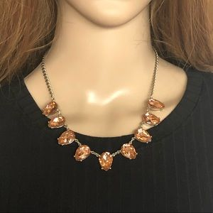 Ann Taylor Loft Crystal Statement Necklace
